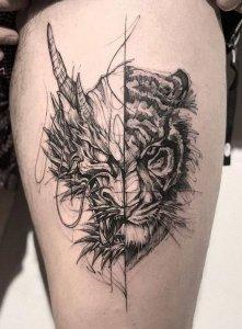 """19 ideias de tatuagens para os homens mais radicais17 221x300 - 18 ideias de tatuagens para os homens mais """"radicais"""""""
