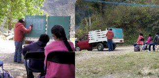 professor poe lousa em caminhao e da aulas em area rural na pandemia 324x160 - Início